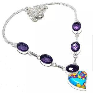 Jewelry - 925 Sterling Silver Heart Amethyst Gemstone